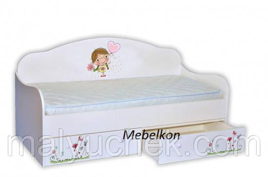 Кроватка диванчик Лето с сердечком