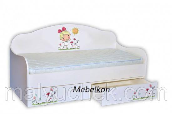 Кроватка диванчик Лето с солнышком