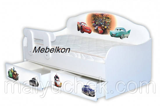 Кроватка диванчик Тачки 3