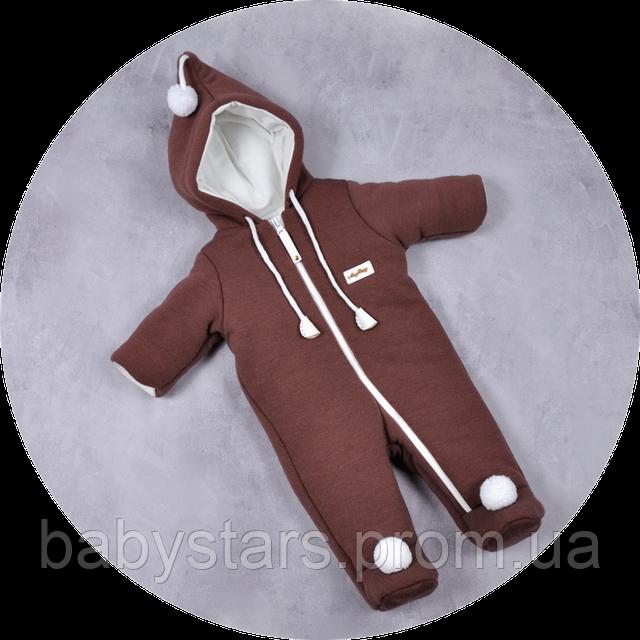 детские теплые комбинезоны для новорожденных