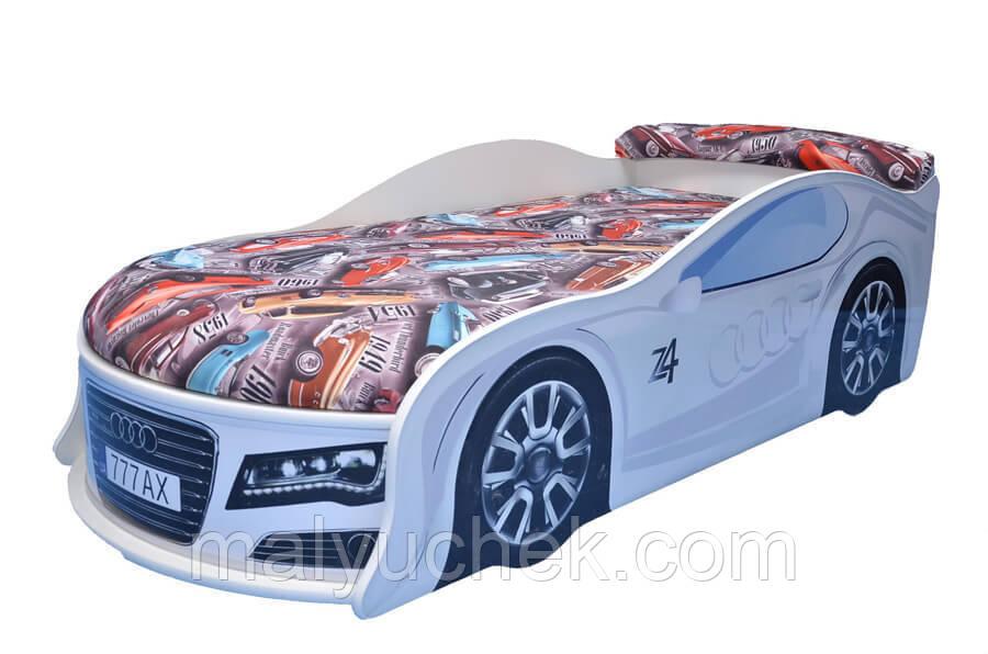 Кроватка машина Ауди белая