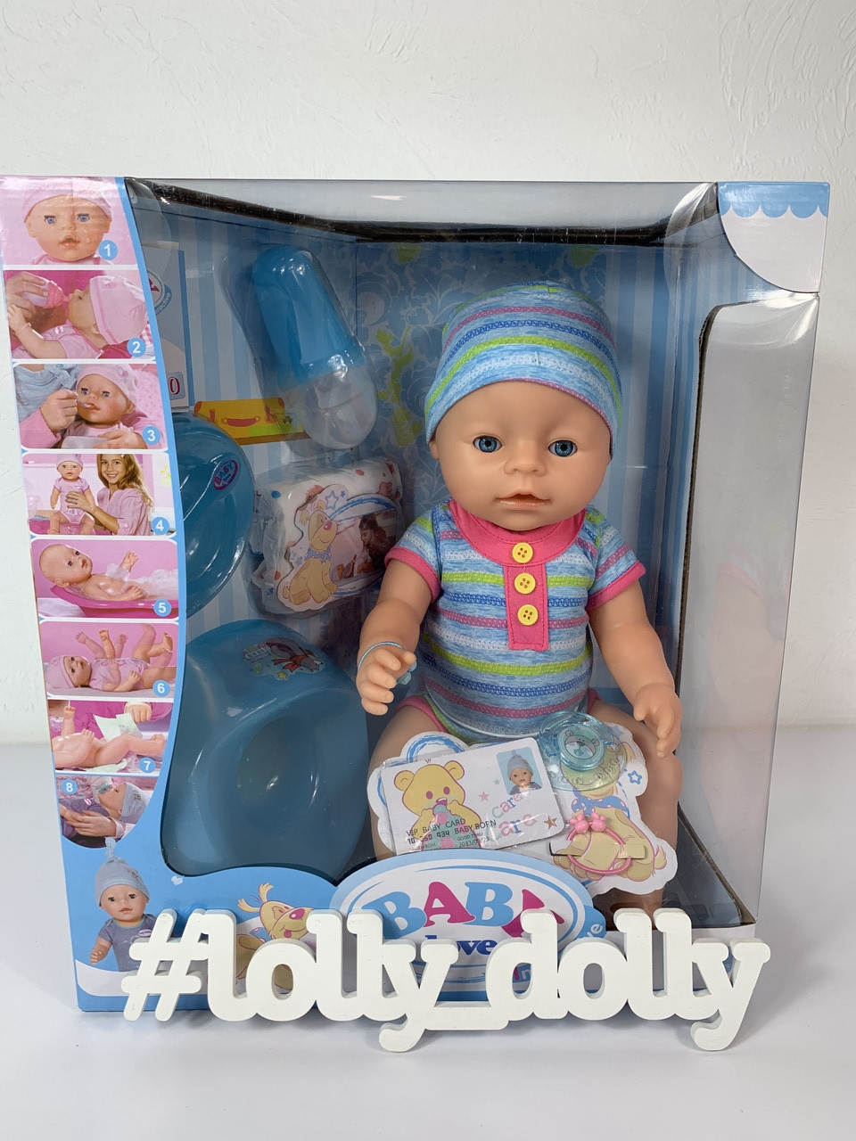 Лялька Бебі Борн Пупс Baby Born BL 033 B