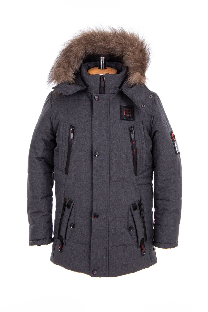 Куртка для мальчика подростка зима  от производителя 32-42 серый