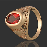 Кольцо с рубином Размер 19 медзолото, медицинское золото