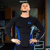 Рашгард мужской fitU Wave M Синий с черным (83119161563)
