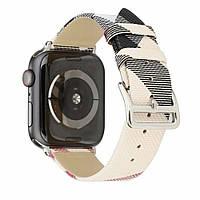 Кожаный браслет для Apple watch 38 mm ; 40 mm — Leather Bracelet Series Colors Grid — Design 01