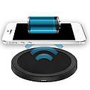 Мини Qi беспроводное зарядное устройство для мобильного телефона 5 Вт, фото 3