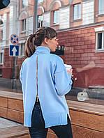 Трендовый свитер с молнией на спине, фото 1