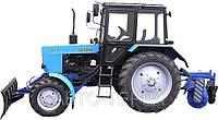 Услуги трактора с щеткой и отвалом