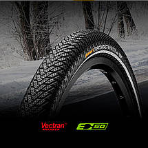 "Покрышка Continental Top CONTACT II Winter Premium Reflex, 26""x1.90, 50-559, Foldable, Vectran Breaker, 610гр., фото 3"