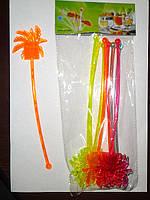 """Мешалки пластиковые для  коктейлей  """" Пальма"""" 22 см"""