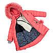 Детские зимние куртки для девочек с натуральным мехом  24-30 красный, фото 6