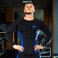 Рашгард мужской fitU Wave L Синий с черным (45906624856)