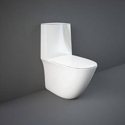 Крышка для унитаза RAK Ceramics Sensation SENSC3901WH дюропласт Soft-Close, фото 2