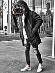 Мужская стильная зимняя парка (черная) - Турция, фото 5