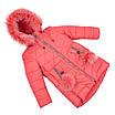 Детские зимние куртки для девочек с натуральным мехом  24-30 сиреневый, фото 4
