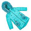 Детские зимние куртки для девочек с натуральным мехом  24-30 сиреневый, фото 5