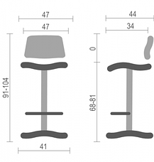 Высокий барный стул хокер Камилла (Camilla) Nowy Styl CH Н V-14, фото 3