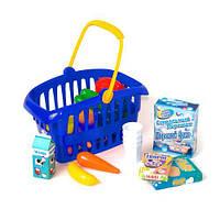 """Корзина """"Супермаркет"""", 33 предмета (синяя)  sco"""