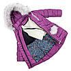 Зимняя куртка парка для девочки  интернет магазин  24-30 персиковый, фото 2