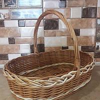 Подарочная корзина из цельной лозы, фото 1
