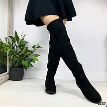 Сапоги ботфорты замшевые, фото 2