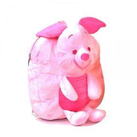 """Мягкий рюкзак с игрушкой Пятачок"""" (розовый)  scs"""