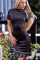 Облегающее женское платье с глубоким вырезом на спине рукав короткий дайвинг