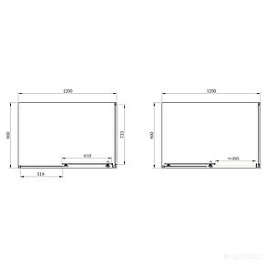 Душевая кабина PRIMERA Frame SHRP55126 120х80 см, стекло шиншилла, фото 2