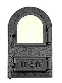 Дверца для печи со стеклом и регулировкой подачи воздуха 102919