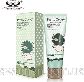Кислородная маска Pretty Cowry Care Carbonated Bubble Clay Mask 80 g