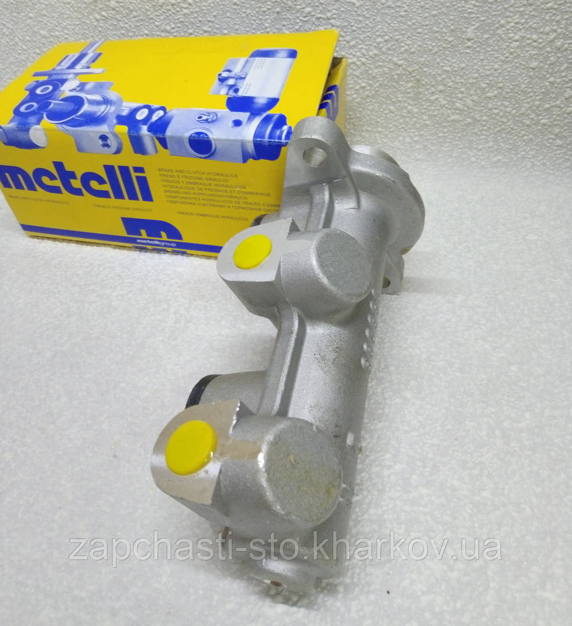 Главный тормозной цилиндр Ланос с ABS (2 трубки) Metelli