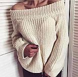 Женский стильный свитер / джемпер объемной вязки свободного кроя (разные цвета), фото 6