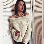 Женский стильный свитер / джемпер объемной вязки свободного кроя (разные цвета), фото 5