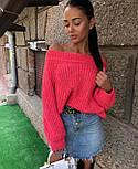 Женский стильный свитер / джемпер объемной вязки свободного кроя (разные цвета), фото 4