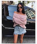 Женский стильный свитер / джемпер объемной вязки свободного кроя (разные цвета), фото 3