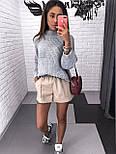 Женский стильный свитер / джемпер объемной вязки свободного кроя (разные цвета), фото 2