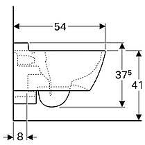 Унитаз подвесной Geberit Xeno2 скрытое крепление, белый глянец, Rimfree, KeraTect 500.500.01.1, фото 2