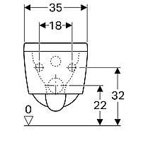 Унитаз подвесной Geberit Xeno2 скрытое крепление, белый глянец, Rimfree, KeraTect 500.500.01.1, фото 3