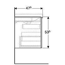 500.610.01.2 Geberit Acanto Тумба для умывальника 65 см, с одним выдвижным ящиком и одним внутренним выдвижным ящиком: корпус: лакированый ультраглянц, фото 2