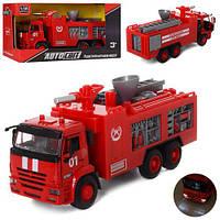 Коллекционная металлическая инерционная модель (детская машинка) - Пожарная машина, AS-1934