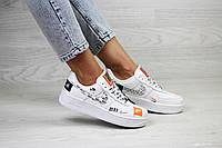 Кроссовки женские / подростковые  Nike Air Force 1 Just Do It  белые (36.38.39.41)