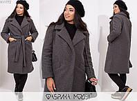 Пальто женское графит из букле НФ/-3282, фото 1