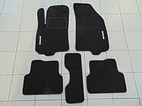 Коврики в салон ворс для Chevrolet Aveo 03- чёрные, Beltex, комплект 5шт