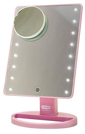 Зеркало косметическое Rotex RHC25-P Magic Mirror Розовый, фото 2