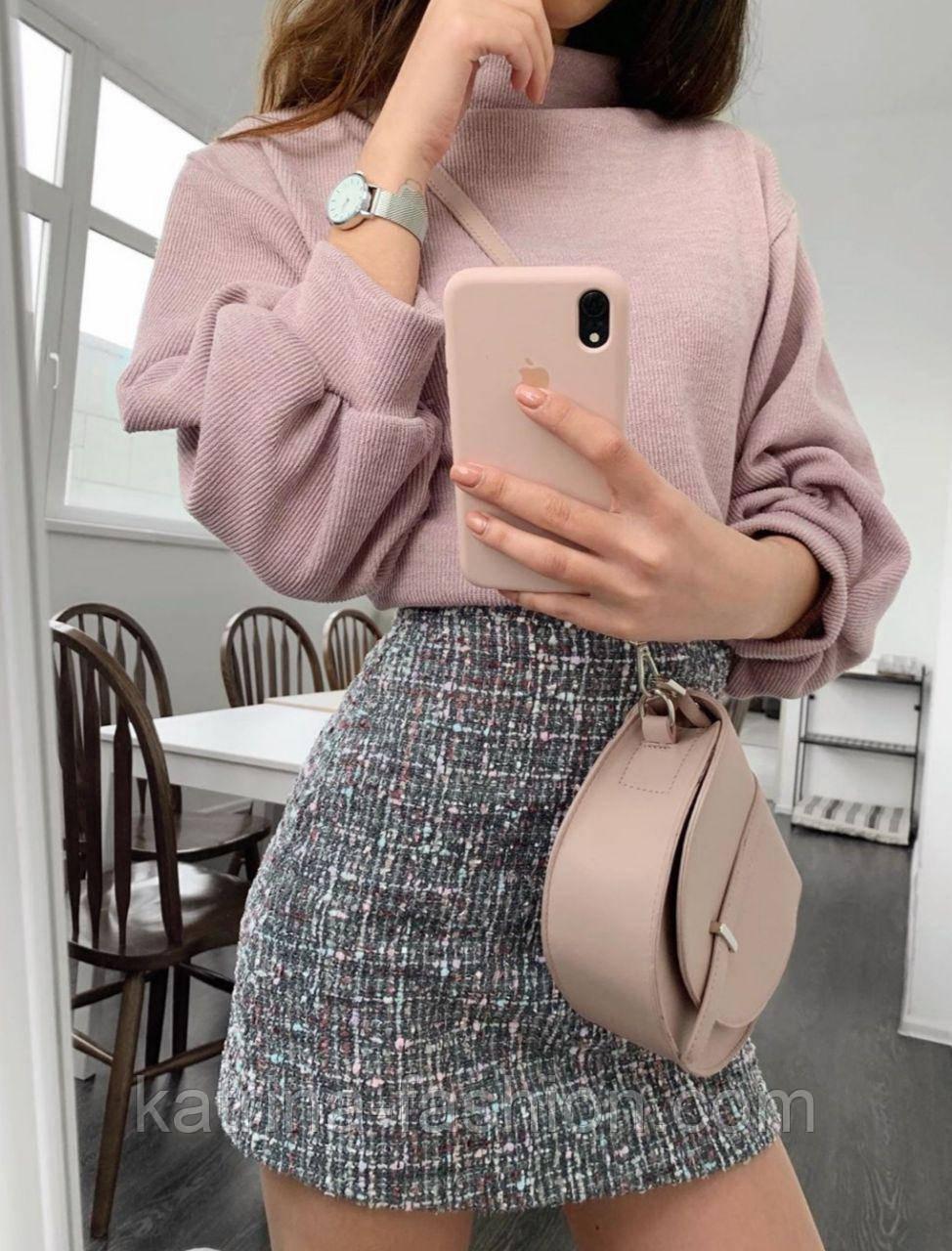 Женская юбка букле (3 цвета)