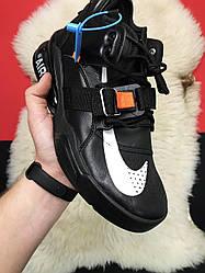 Мужские кроссовки Nike Air Force 270 Black x Off White (черные)