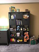 Книжный стеллаж детский для книг и игрушек с ящиками FeliFam (5 ячеек)