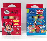 "Мел цветной, круглый Minnie-Mouse/Jumbo, (3 цвета) ТМ ""Olli"""