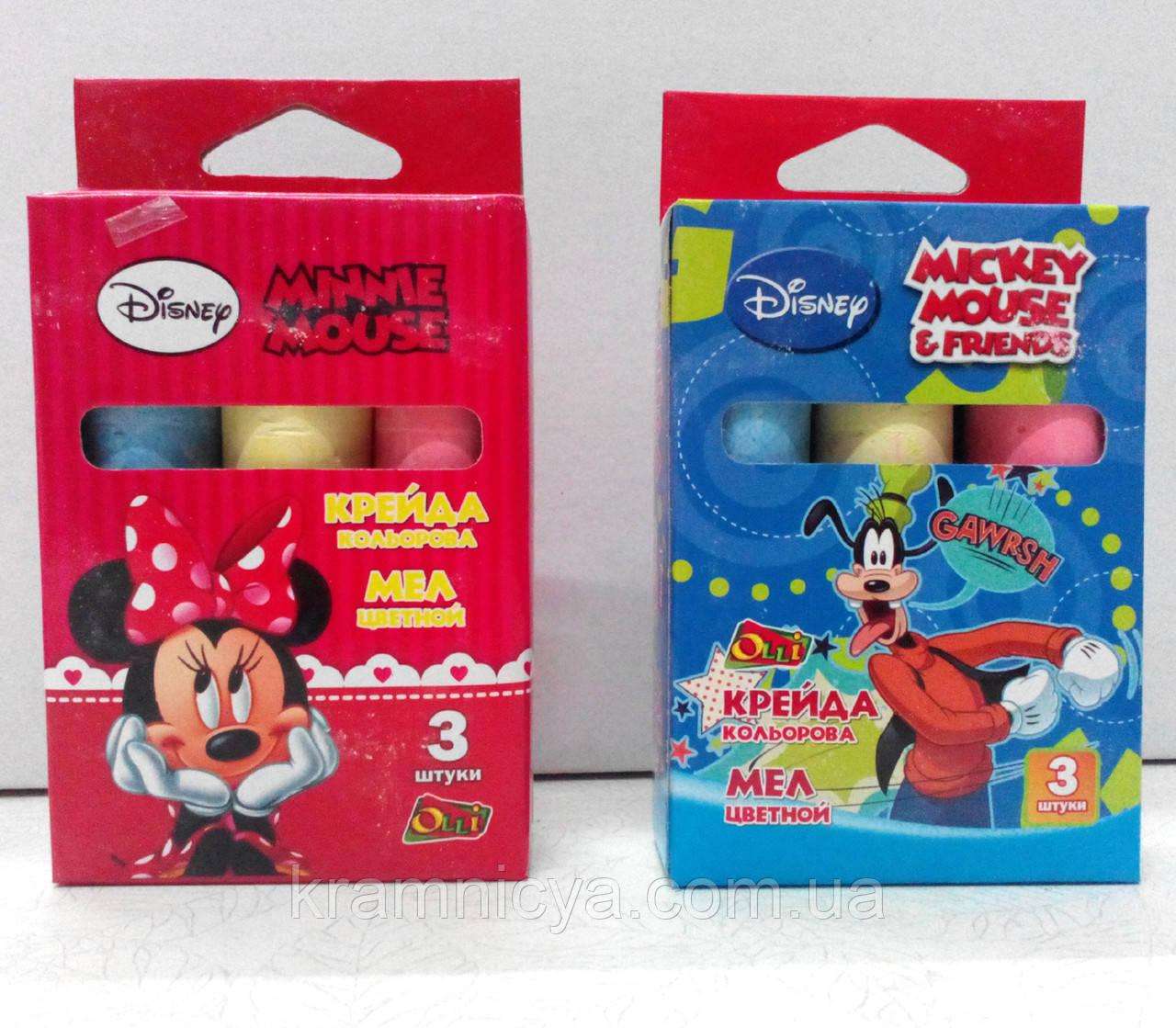 "Мел цветной, круглый Minnie-Mouse/Jumbo, (3 цвета) ТМ ""Olli"" - Интернет-магазин ""Крамниця творчості"" в Виннице"